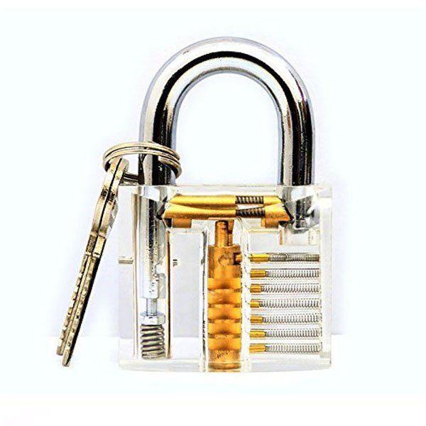 H&H 30-in-1 Lock Picks Set Transparent Practice Padlock Bundle