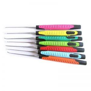 KLOM Premium 7 Pieces Hook Pick Set with Colorful Handle