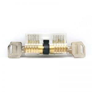 Transparent 5 Pin Double-Sided Euro Cylinder Practice Lock