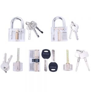 Transparent Visible Practice Locks - 5 Pack