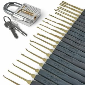 GOSO 24 Piece Lock Pick Set Transparent Practice Padlock Bundle